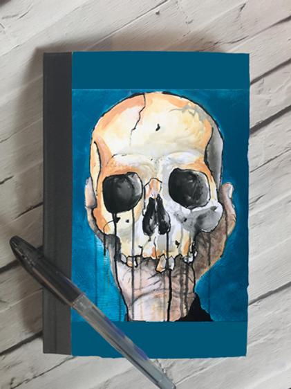 Blue Skull Notebook