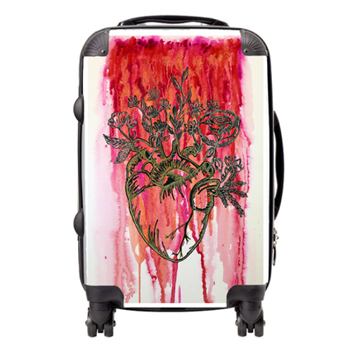 Love Fiercely Suitcase  / Cabin Bag