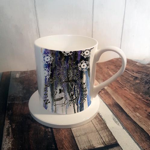 Nuture Nature Winter Bone China Mug & Coaster Set