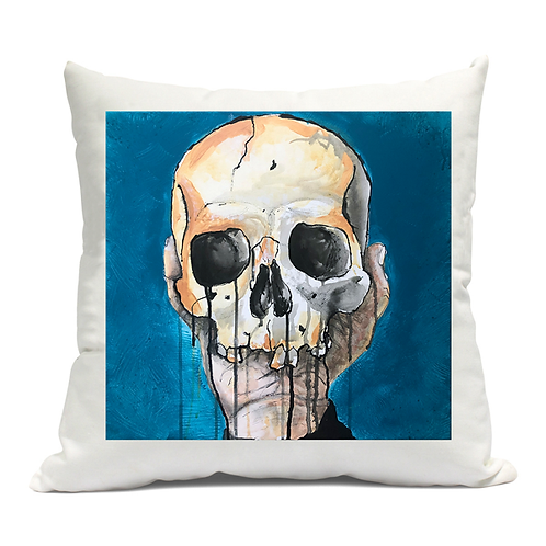 Blue Skull Cushion