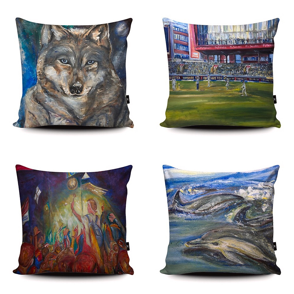 Wraptious art competition cushions