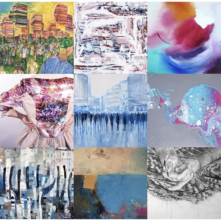 A collection of artists exhibiting at the Summer Show