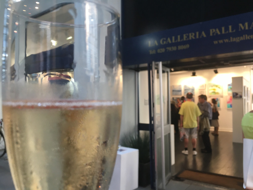 Celebrating the Preview Night at La Galleria Pall Mall Art Gallery