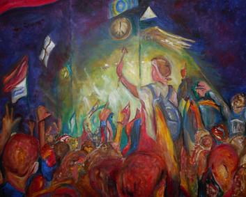 Glastonbury Fever (acrylic on canvas, Glastonbury Festival)