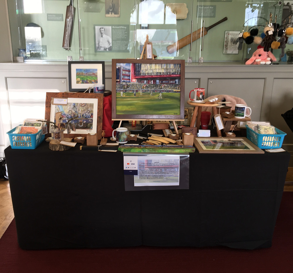 My art stall at the Lancashire Cricket Foundation at Emirates Old Trafford
