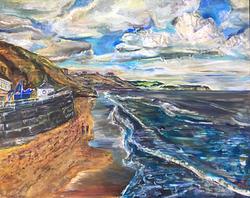 Teteering on the sea edge
