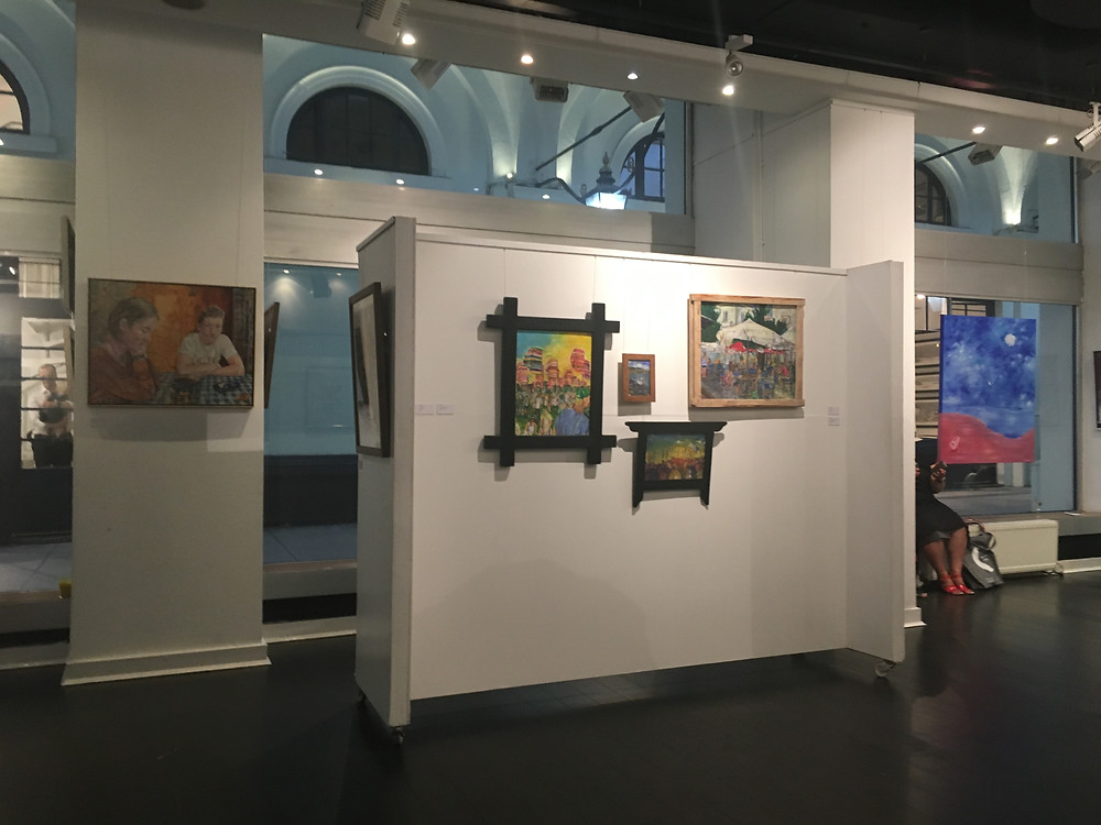 My artwork on display at the Summer Show at La Galleria Pall Mall