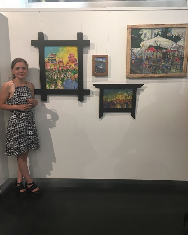 With my artwork at the Preview Night
