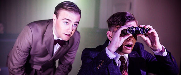 George Stagnell and Sam Hird in Stephen Dolginoff's Thrill Me: The Leopold and Loeb Story