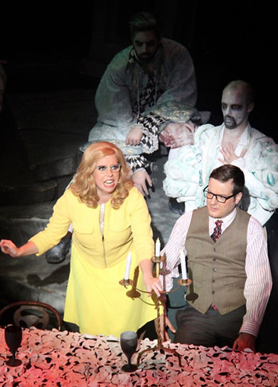 Katie Melia and Neil Foster as the Beinekes in The Addams Family
