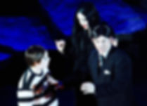 Frankie Bounds, Hayley Bamford and Darren Lumby in The Addams Family