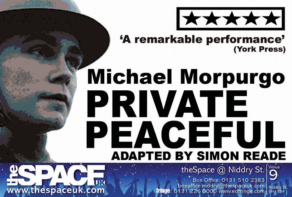 Private Peaceful at the Edinburgh Fringe 2017