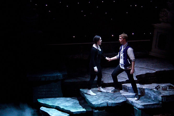 Holly Surtees-Smith and Sam Hird in The Addams Family