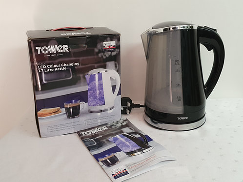 Tower T10012 Colour Changing LED Jug Kettle with Removable Washable Filter