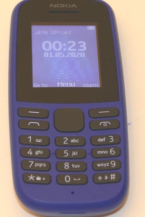 Nokia 105 1.77 Inch UK SIM Free Feature Phone (Single SIM) – Black Unlocked SIM