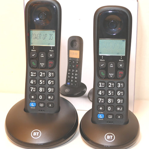 BT Everyday Cordless Home Phone with Basic Call Blocking, Twin Handset Pack,