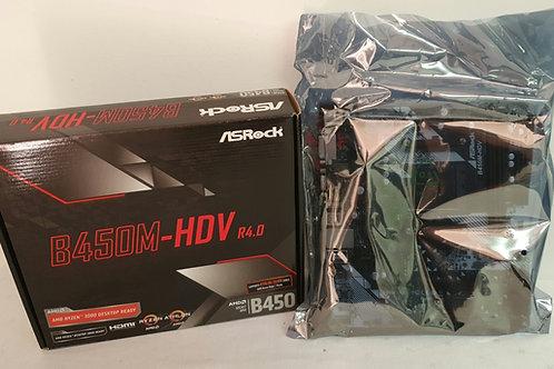 ASRock B450M-HDV R4.0 Socket AM4/ AMD Promontory B450/ DDR4/ SATA3&USB3.1/ M.2/