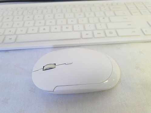 Jelly Comb Wireless Keyboard and Mouse Combo, 2.4G Full Size Wireless Rechargeab
