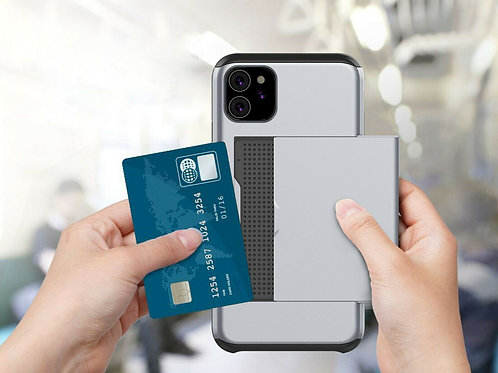 Hybrid Phone Case with Hidden Credit Card Holder For iPhone 11 11 PRO 11 PRO MAX