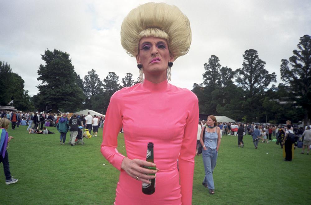 Man in Pink Dress