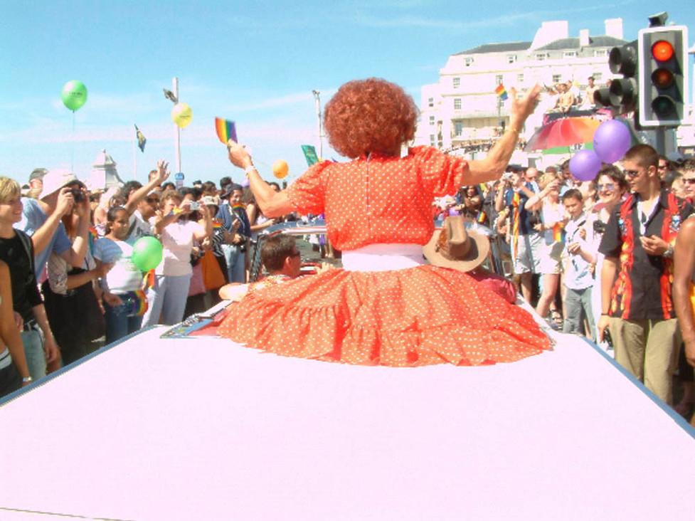 Gay Pride., Maderia Drive, Brighton