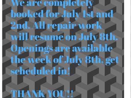 Openings July 8th - 12th