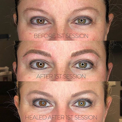 Microblading stages 🤗