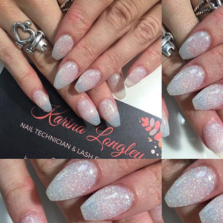 Coffin winter nails with some sheer negative space 😉 My fave! #coffinnails #nailstagram #nailswag #nailsofinstagram #nailsdid #nailsonfleek_