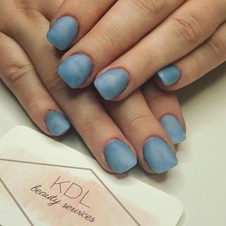 Light blue marble matte nails 💙✨