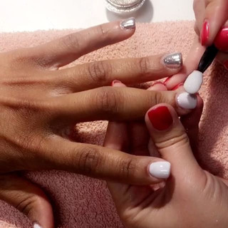 Angela getting her chrome nails on ✨🌸