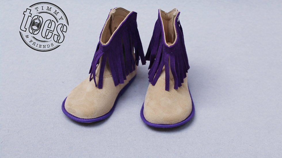 Cowboy bootie purple