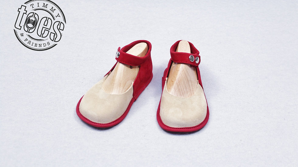 Ballerina bootie red