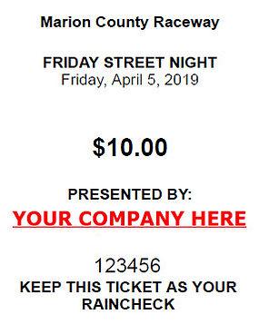 Drag Strip Ticket