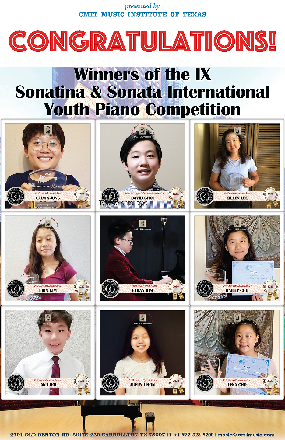 2020 IX Sonatina & Sonata International