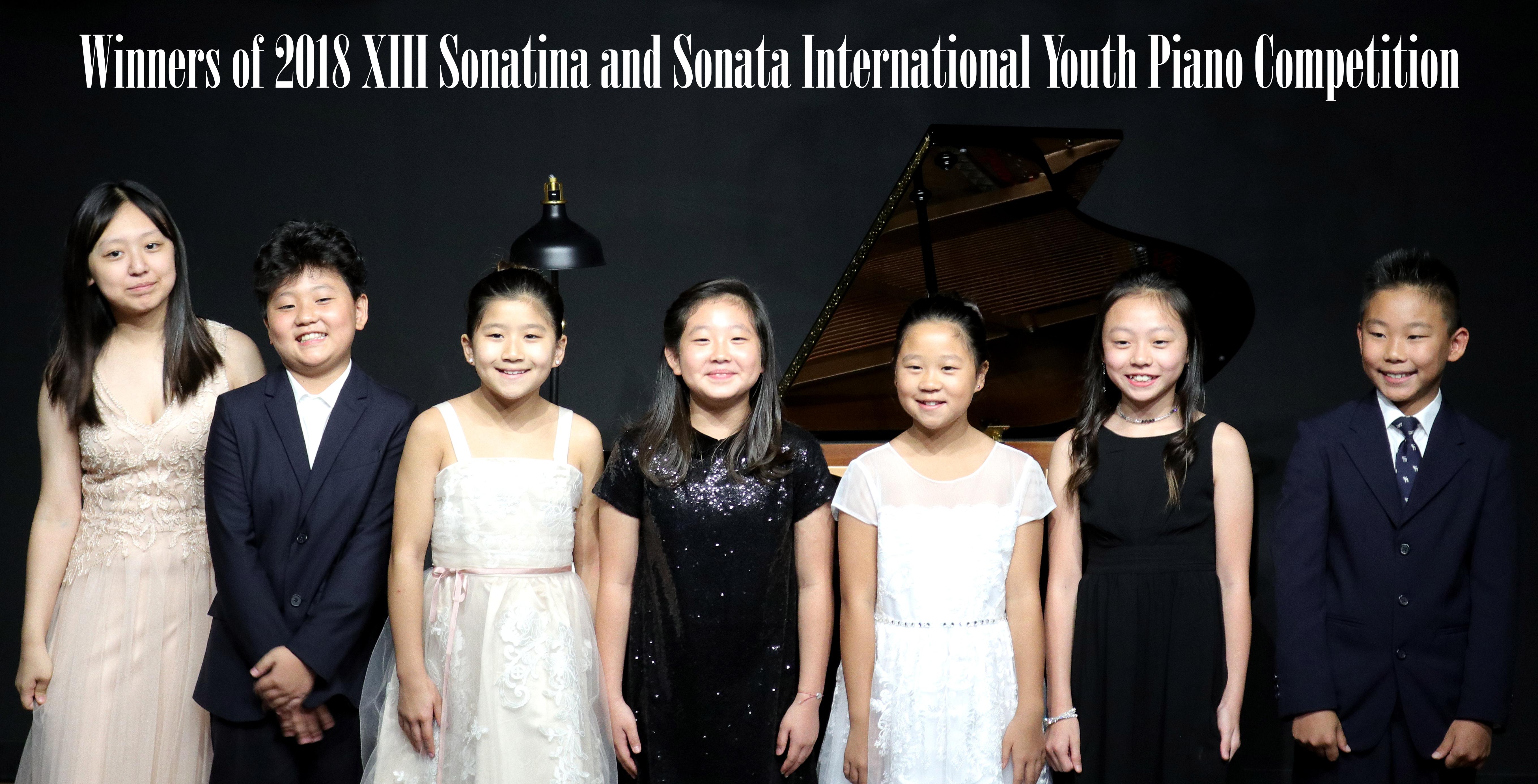 Winners of 2018 XIII Sonatina and Sonata