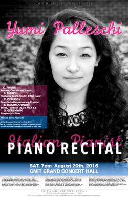 Yumi Palleschi Piano Recital poster 2