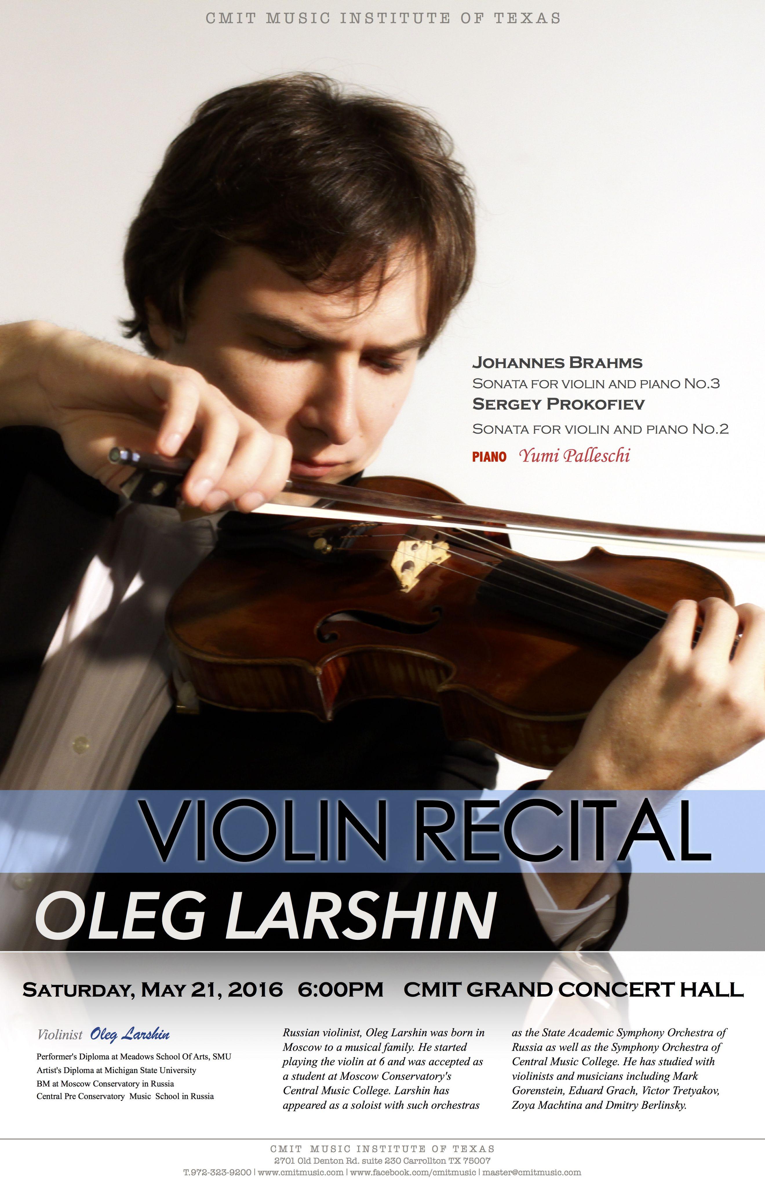Oleg Larshin Violin Recital 052116JS