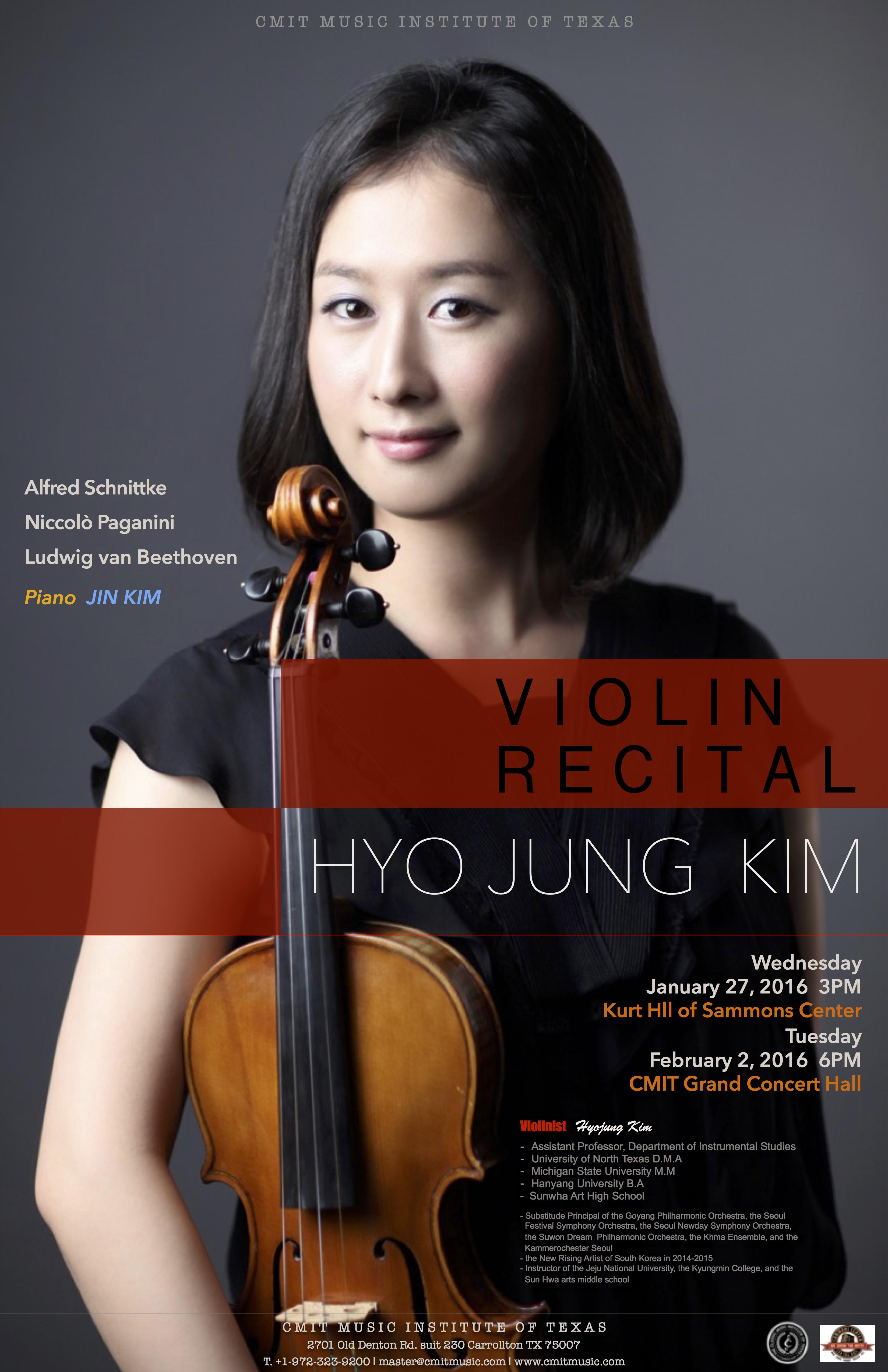 Hyojung Kim Violin Recital - 020216CGP