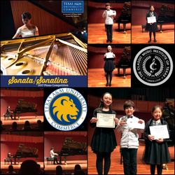 2017 Texas A&M University Piano Competition winners