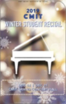 2019 CMIT WINTER STUDENT RECITAL POSTER