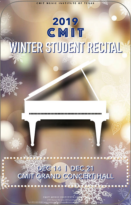2019 CMIT WINTER STUDENT RECITAL POSTER