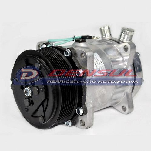 Compressor 7h15 8 Orelhas 8PK 24v Saída Vertical