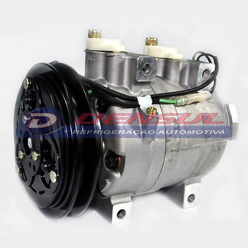 Compressor Retroescavadeira Hyundai Polia V 24v 175mm