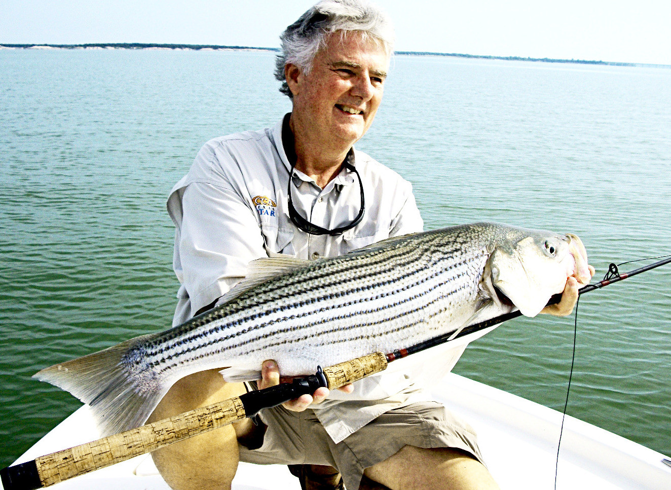 World and Texas State Record Striper with Plnor fishing