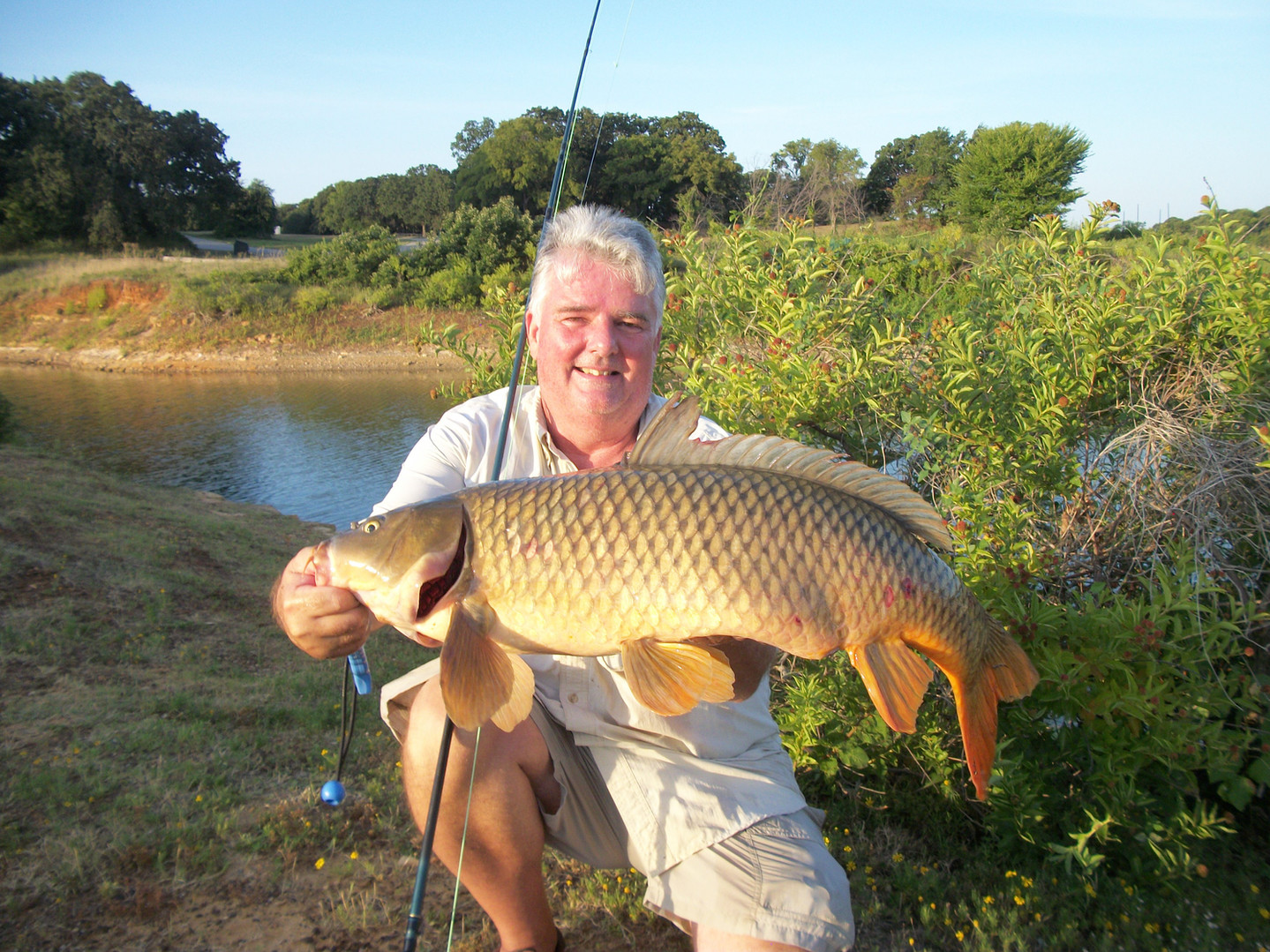 Texas Fly Fishing Catch and Release State Record Common Carp  - 34.25 inches