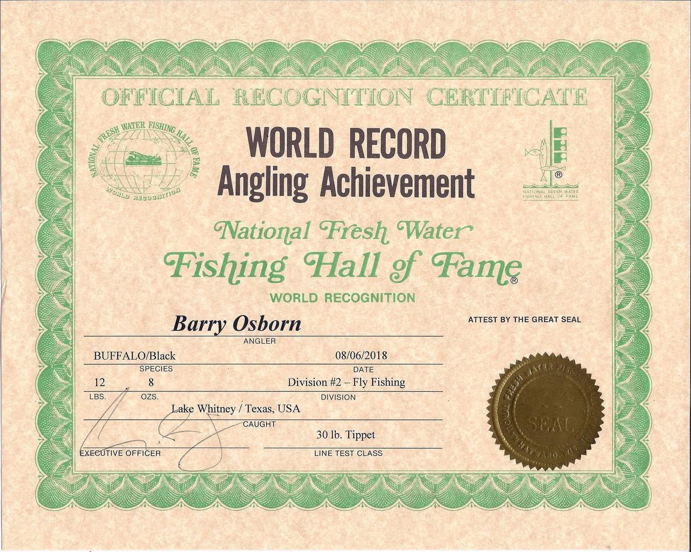 Fly Fishing Black Buffalo World Record