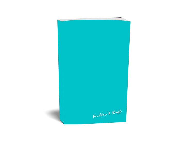 Doodles & Stuff - Plain A4 Notebook blue