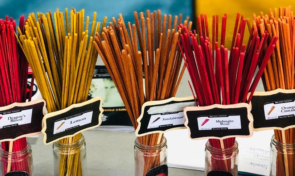 Incense bundles 10,30 or 100 sticks, in 7 different fragrances