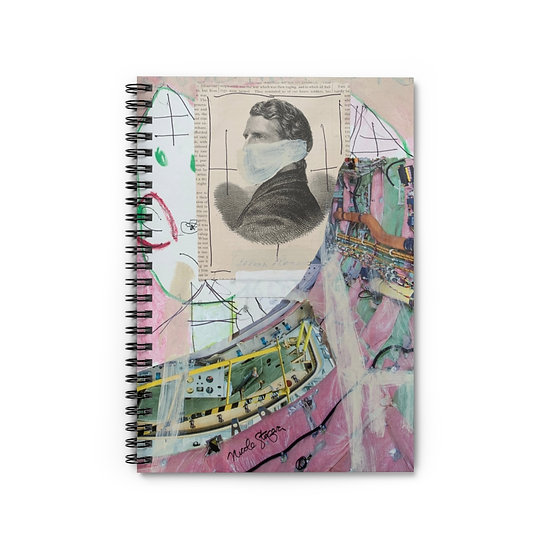 Space Travel Spiral Notebook - Ruled Line