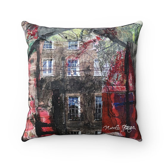 Red Barn Dream Home Faux Suede Square Pillow